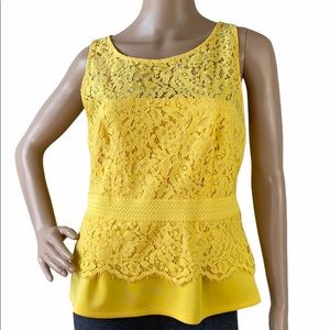 7th Avenue by New York & Company Lace Peplum Top